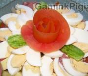 Mėsos salotos su daržovėmis