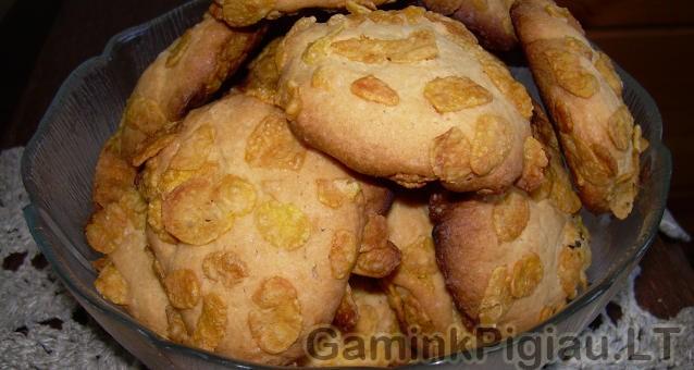 Sausainiai su  kukurūzų dribsniais