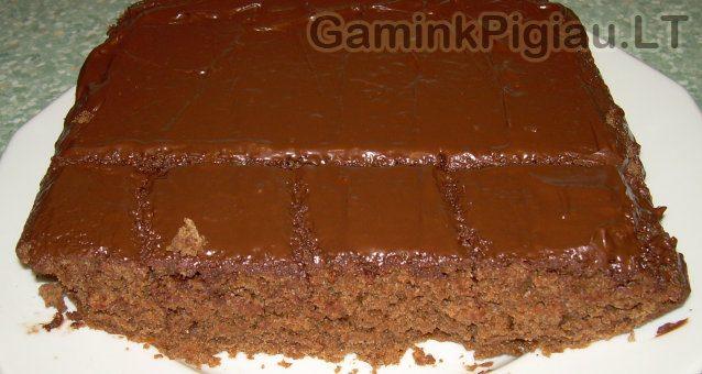 Šlapias šokoladinis pyragas