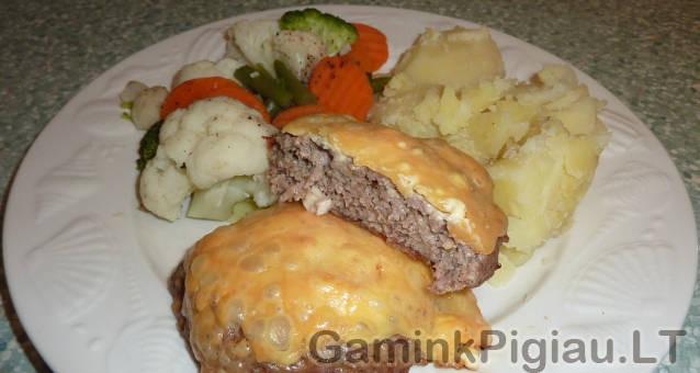 Maltos mėsos kepsneliai su sūriu