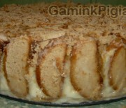 Meduolių – bananų tortas