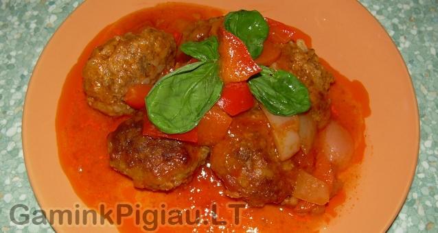 Mėsos kukuliai su kinietišku padažu