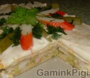 Pikantiškas vaflių tortas