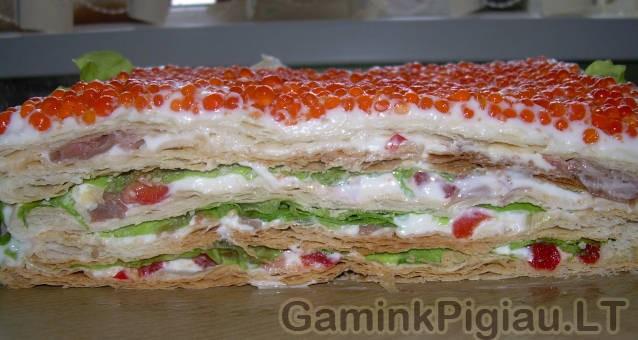 Lašišos tortas