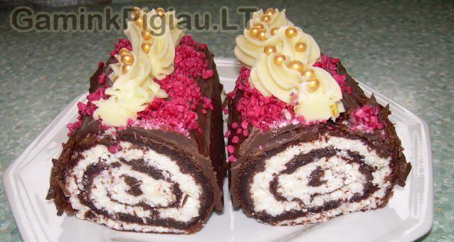 Šokoladinis vyniotinis be miltų